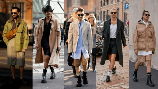 Showgoers Ditched the Pants at Milan Fashion Week Men's