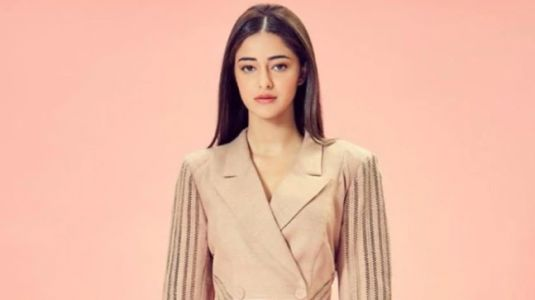 Ananya Panday turns boss lady in chic nude mini dress for event in Mumbai. See pics