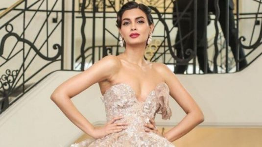 Cannes 2019: Diana Penty serves 60s elegance on red carpet in off-shoulder beige gown. See pics
