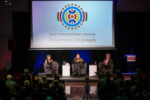 RCGS celebrates Indigenous languages with National Chief Perry Bellegarde and Wade Davis
