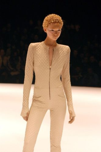 Gemma Ward walking the runway of the fall/winter 2004 Alexander