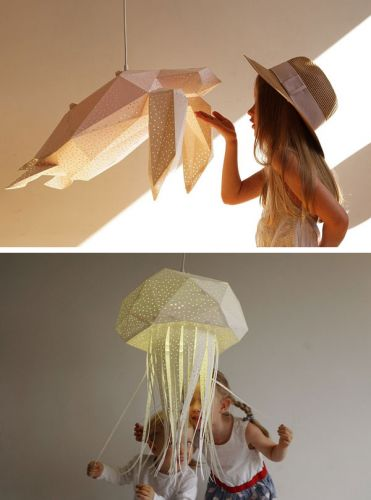 MAGICAL SEA CREATURE LAMPSHADES BY VASILI LIGHTS