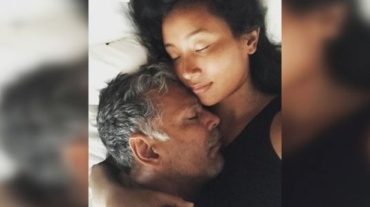 Milind Soman says his favourite place is in wife Ankita Konwar's arms. See post