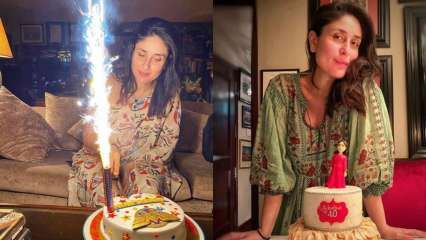 Kareena Kapoor Khan slays it in a one-shoulder drape outfit as she cuts 'super mom' birthday cake; see pics