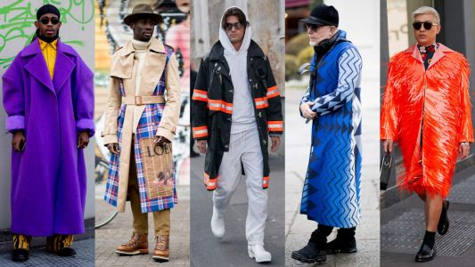 Showgoers Wore Their Best Statement Coats at Milan Fashion Week Men's