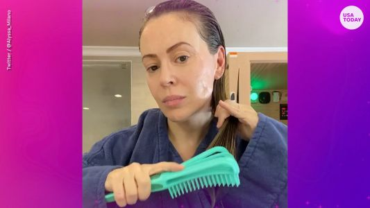 Alyssa Milano posts video of hair loss that she believes is linked to COVID-19