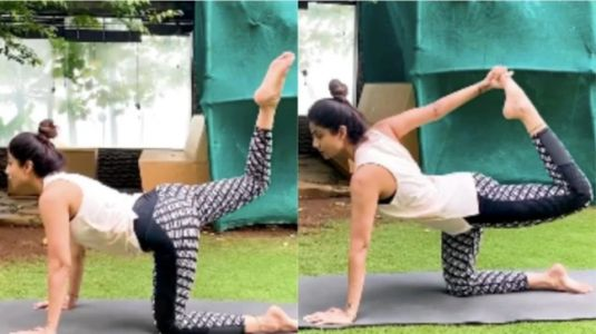 Shilpa Shetty shares yoga asanas to strengthen lower back and relieve stiffness. Seen video yet?