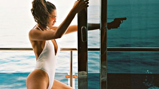Victoria's Secret model Kelly Gale Channels the Bond girl Life with Bamba Swimwear SS 2020