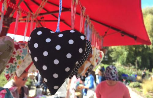 Be in to win one of three handmade heart decorations by Alice's Thimble, valued at $12 each