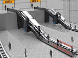 In the future plane passengers could clear security and check in - by going up an ESCALATOR