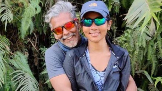 Milind Soman hugs wife Ankita Konwar in adorable Instagram pic as he wishes New Year