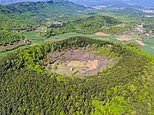 La Garrotxa: The Spanish region containing 40 volcanic cones - and there's a lone church in one