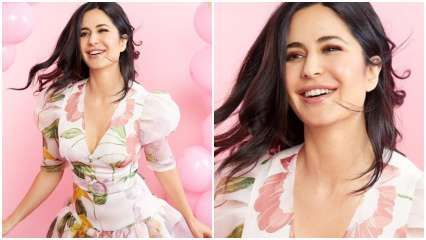 Katrina Kaif achieves perfect brunch look with pink floral print dress; Can you guess the price?