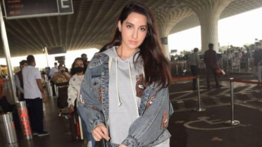 Nora Fatehi in sweatshirt and shorts with Rs 3 lakh bag is super stylish