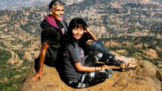 Milind Soman runs barefoot for 6km on favourite route in new post. Ankita Konwar reacts