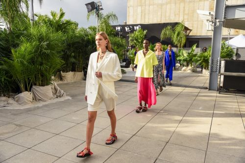 Jason Wu Transformed the Roof of Spring Studios Into a Tropical, Social Distance-Compliant Oasis for Spring 2021