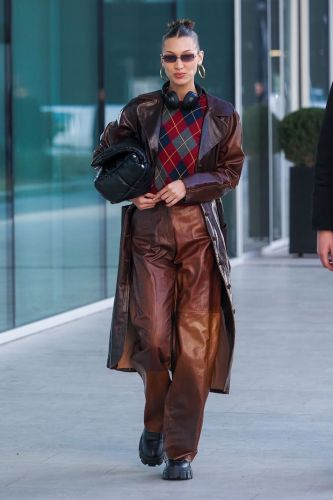 Bella Hadid Just Made Your Grandpa's Argyle Sweater Look Cool AF