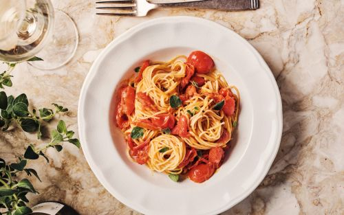 Cherry tomato and oregano angel hair pasta recipe