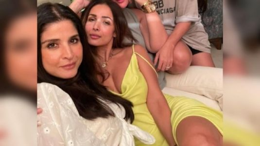 Malaika Arora's strappy lime dress is chic but won't burn a hole in your pocket