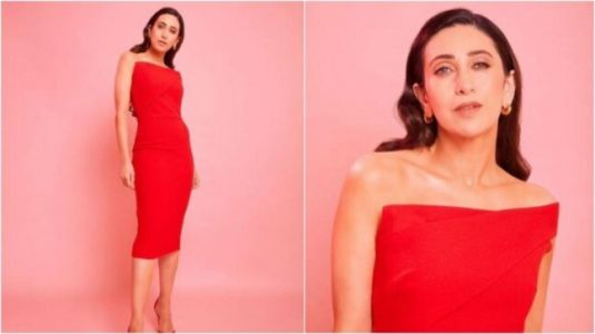Karisma Kapoor in red strapless dress is drop dead gorgeous at Mumbai event. All pics