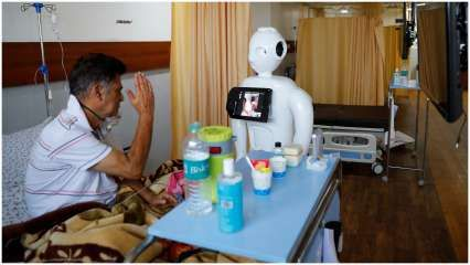 Meet 'Mitra': The robot that helps India's COVID-19 patients to connect with loved ones