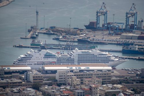 Cruise Ship Seabourn Ovation Embarks in Haifa Port on Mediterranean Cruise