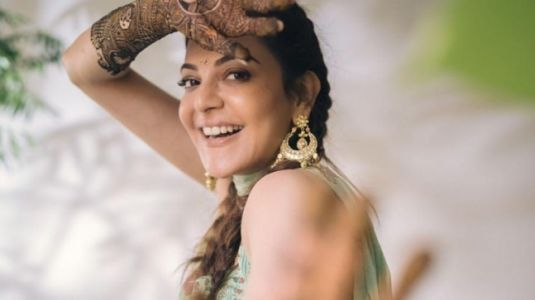 Kajal Aggarwal in Rs 25k sharara-set flaunts her henna design at mehendi function