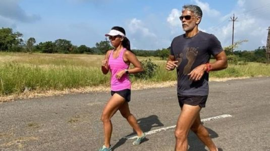 What Milind Soman and Ankita Konwar's perfect date looks like. Watch