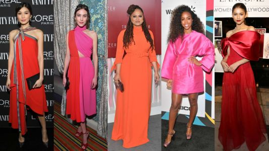 All Your Favorite Celebrities Wore Hot Pink, Red and Orange This Week