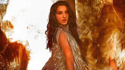 Nora Fatehi in silver mini dress says this is how fast we glam. New Instagram video