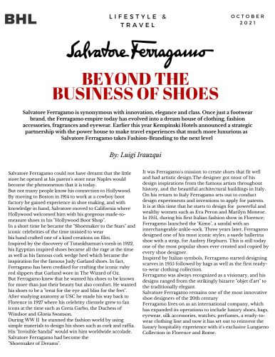 Salvatore Ferragamo: Beyond the Business of Shoes