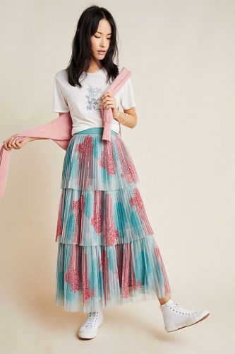 Every Long Pleated Skirt We are Seriously Loving for Fall Right Now