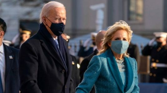 Dr Jill Biden in embellished ocean blue look chooses American designer at Inauguration Day