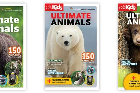 Help us choose the cover for CanGeo Kids Ultimate Animals