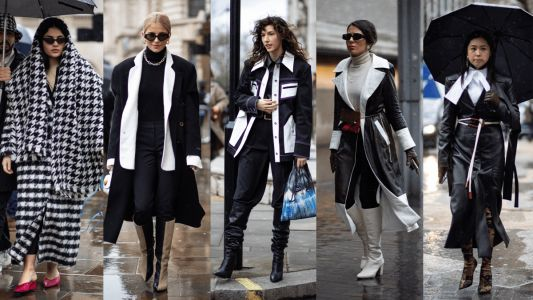 Black-And-White Looks Were Everywhere Over the Weekend at London Fashion Week