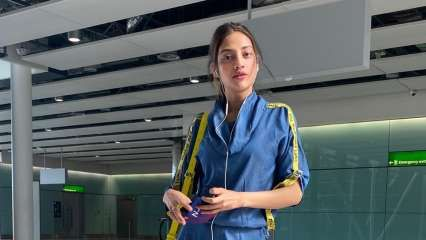 Photos: Actor-turned-MP Nusrat Jahan turns head with her stylish airport look