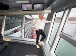 Sir Richard Branson launches his first-ever cruise ship, Scarlet Lady, in Dover
