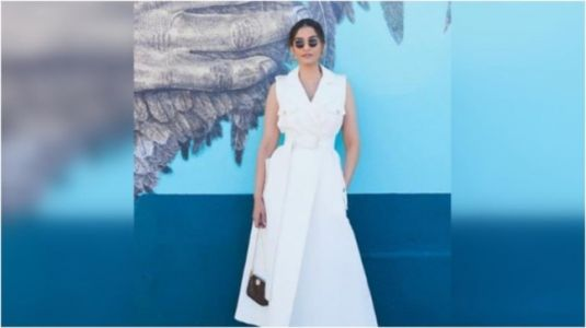 Sonam Kapoor in chic dress on LA vacay proves white can never go out of style. See pics