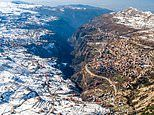 Stunning drone images by Rami Rizk show Lebanon's beauty, from beaches and waterfalls to ski resorts