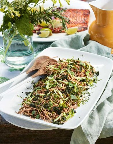 Recipe: Soba Noodle, Wakame and Cucumber Salad
