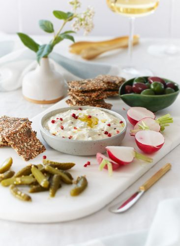 Recipe: Whipped Feta with Lemon Zest & Pink Peppercorns