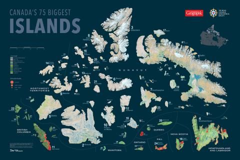 Mapping Canada's 75 biggest islands