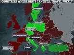 There are now just NINE countries where Britons can travel freely