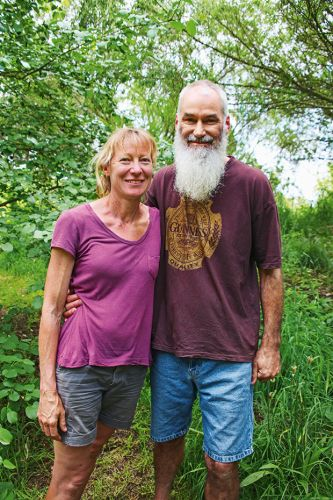 A green-thumbed couple transformed their dry block into a perennial food forest and bountiful permaculture farm
