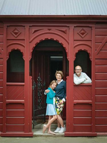 Cranmer Square's Red House rises again: Christchurch couple Johannes van Kan and Jo Grams pull their dream home out of the ashes