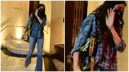 Janhvi Kapoor teams minimal look with 'Off-White' shoulder bag; try and guess its price!