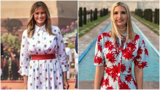 White, floral fashion: Melania and Ivanka Trump go high on spring trends on India visit