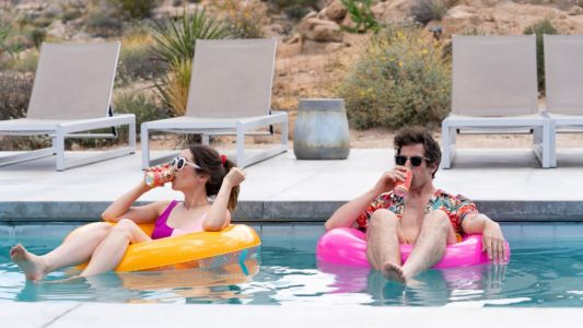 In 'Palm Springs,' Andy Samberg and Cristin Milioti Repeat the Same Day Over and Over Again in Ralph Lauren, ASOS and & Other Stories