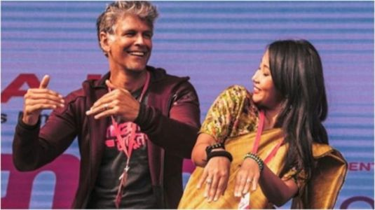 Milind Soman learns Bihu dance steps from wife Ankita Konwar. Watch adorable video