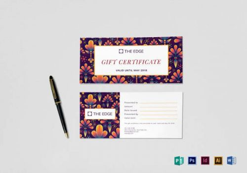 30 Unique Gift Card Design Template Graphics
